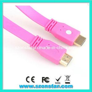 Flat PVC Jacket 1.4V 1080P HDMI Cable