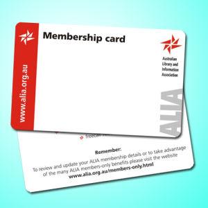 Cmyk Offset Printing Plastic PVC Card with Standard Card Visa Size
