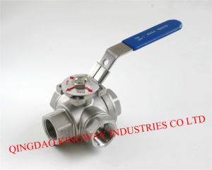 Three-Way Ball Valve with Mounting Pad.