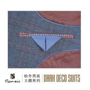 OEM Peak Lapel Wool Classic Fit Men′s Business Suit pictures & photos