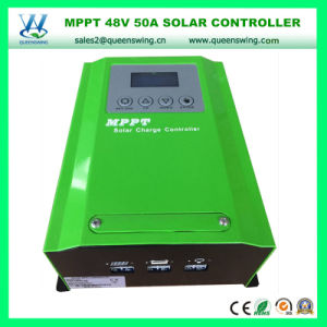 LCD Display 50A 12/24/48V MPPT Solar Charger Regulator (QW-4850A) pictures & photos