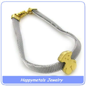Stainless Steel Little Bear Bracelet (B3285-1)