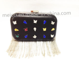 Crystal with Chain Leather Bags, Fashion Eveningbag pictures & photos