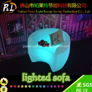 RGB Color Changing Lighted Garden Furniture LED Sofa pictures & photos