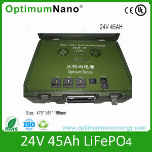 Deep Cycle 24V 45ah LiFePO4 Battery for Army Backup System pictures & photos