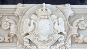 White Marble Horse Relief (MRL-003) pictures & photos