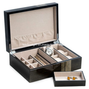 High Quality Wooden Jewelry Cufflink Storage Box pictures & photos