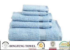 100% Cotton Organic Satin Border Bath Towel pictures & photos