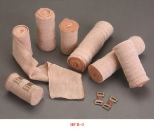 High Quality Bleached Bandage Plain Elastic with CE &ISO pictures & photos