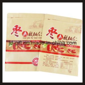 Customized Printing Food Packaging Kraft Paper Bag with Window for Food pictures & photos