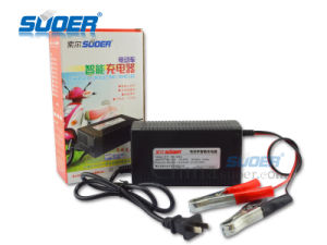 Suoer Portable Battery Charger 50A Electric Car Battery Charger with Three-Steps Charge Mode (MB-1250A) pictures & photos