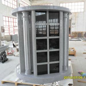 72 Niches Gray Granite Columbarium with Columns pictures & photos