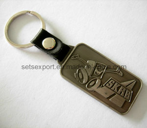 Metal Badge with Leather Keyholder