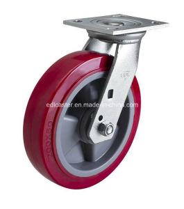 """Edl Heavy Duty 8"""" 450kg Plate Swivel TPU Caster Wheel 7018-86"""