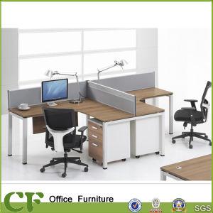 L Shape 2 Clusters Partition Desk pictures & photos