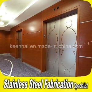 Decorative Etched Design Stainless Steel Elevator Sliding Door pictures & photos