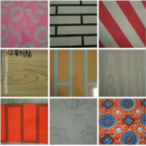 Suede PPGI, Red Feather Design PPGI, Old Wall Brick PPGI for Building