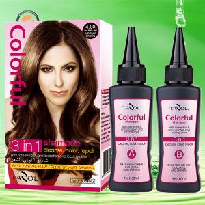 4.0 Hair Color Shampoo Medium Brown pictures & photos