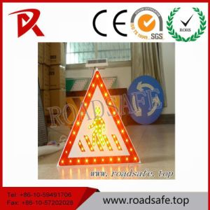 Aluminum Triangle LED Reflective Custom Warning Traffic Sign Symbols pictures & photos