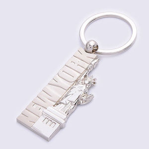 Customization Statue of Liberty Shape Metal Keychain (BK11639-) pictures & photos