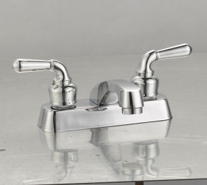 "4""Double Handles Basin Faucet pictures & photos"