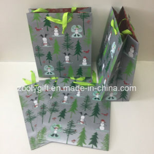 Slivery Printing Christmas Gift Packing Paper Bags pictures & photos