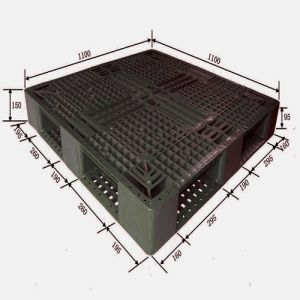 4-Way Entry Single-Sided Logistic Plastic Pallet pictures & photos