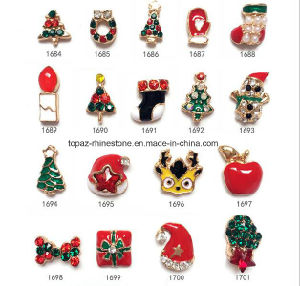 2016 Factory Sale Christmas Nail Art Alloy Wholesale Christmas Tree Nail Accessories (1684-1701) pictures & photos