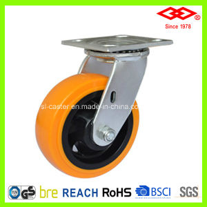 200mm Swivel Top Plate PU Heavy Duty Castor (P701-36FA200X50) pictures & photos