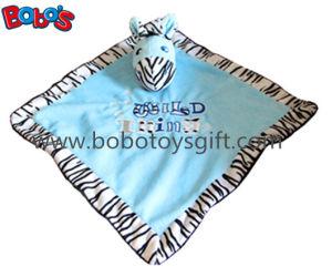 "15"" Hot Sale Stuffed Zebra Head Style Baby Blanket Plush Comforter Bib pictures & photos"