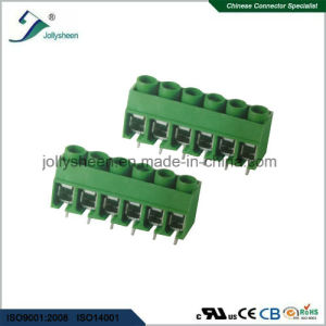 6p PCB Universal Screw Terminal Blocks Pitch 5.0mm 180deg Straight Type pictures & photos