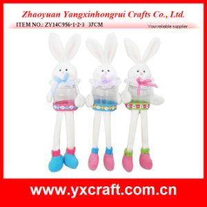Easter Decoration (ZY14C956-1-2-3 37CM) Easter Gift Costume Bunny Candy Jar pictures & photos