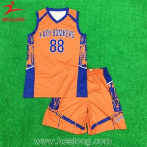 Cheap Sublimation Boys Basketball Vest with Shorts pictures & photos