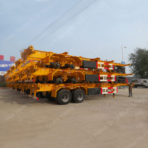 2 Axle 40FT /20FT Flatbed Container Transportation Truck Skeleton Trailer pictures & photos