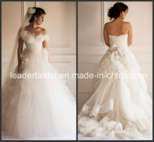 Lace Wedding Dress Puffy Tulle Bridal Wedding Ball Gown Ld11615 pictures & photos
