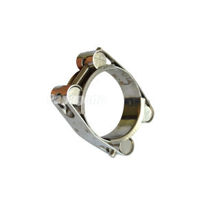 Double Bolt Hose Clamp with Soild Nut pictures & photos