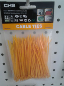 Yellow Nylon Zip Tie of 100PCS/Bag pictures & photos