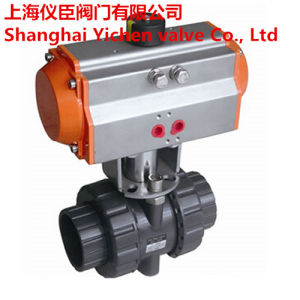 High Quality Performance Pneumatic Plastic Ball Valve pictures & photos