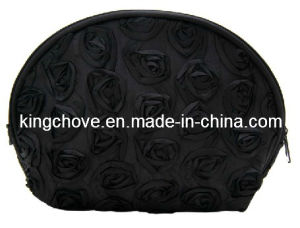 Fashion Black Nylon with Rose Cosmetic Bag (KCC49) pictures & photos
