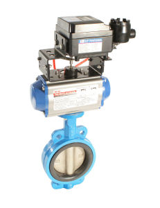 Butterfly Valve with Pneumatic Cylinder (HAT-75D) pictures & photos