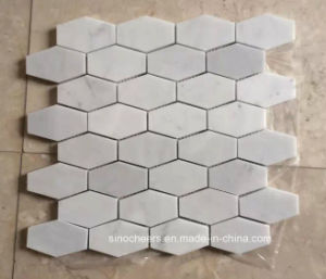 White Colour Long Hexagon Marble Mosaic Tile pictures & photos