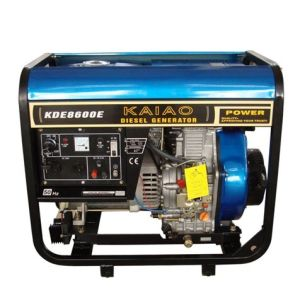 6kVA Diesel Generator Portable Open Frame Kde8600X/E