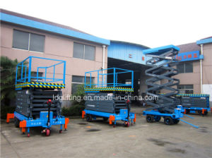 Self-Propelled Mobile Hydraulic Aerial Work Platform (SJZ0.5-11) pictures & photos