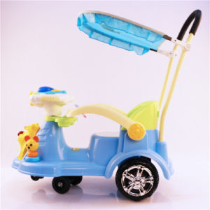 Kids Swing Car with Push Bar and Canopy Wholesale pictures & photos