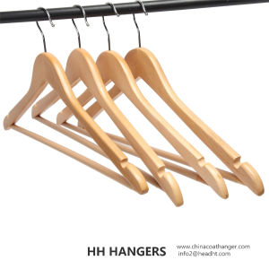 Basic Regular Natural Bar Wooden Hanger for Wholesale pictures & photos