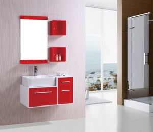 N&L Simple Modern PVC Bathroom Vanity with Mirror Cabinet pictures & photos