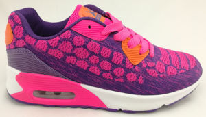 Flyknit/PU Running Sport Shoe for Lady pictures & photos