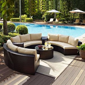 Outdoor Furniture Table Sets Home & Garden Water Proof Rattan / Wicker Table&Chair (S211) pictures & photos