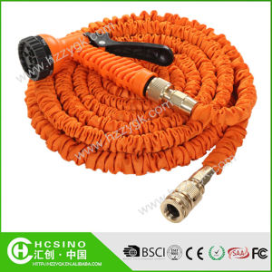 2015 Popular Brass Fitting Garden Hose with 7 Functions Spray Nozzle
