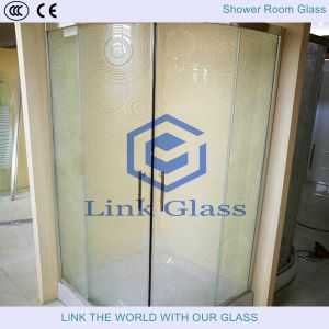 3.5-6mm Tempered Rain-B Glass for Bathroom Shower Enclosures pictures & photos